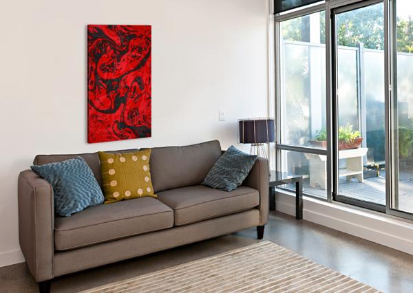 BLACK & RED MARBLE II ART DESIGN WORKS  Canvas Print