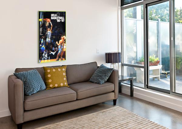 1986 UCLA BRUINS BASKETBALL REGGIE MILLER POSTER ROW ONE BRAND  Canvas Print