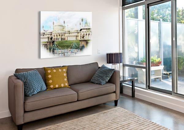 BRIGHTON PAVILION STREET VIEW DOROTHY BERRY-LOUND  Canvas Print