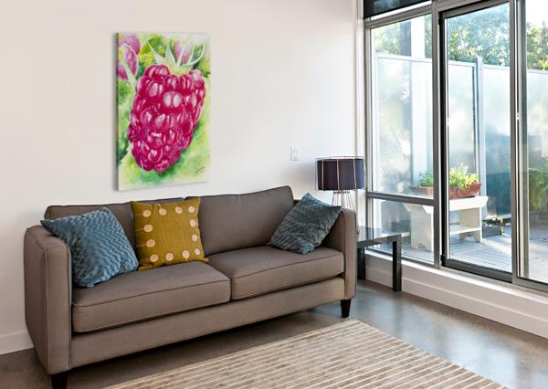 SUMMER FLAVOR: RASPBERRY I C  MCGOWEN  Canvas Print
