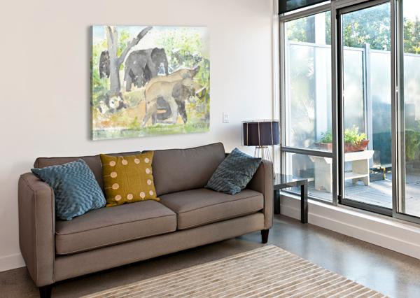 AFRICAN ELEPHANTS 1 ADRIAN BUTT  Canvas Print
