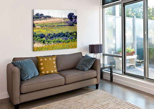 SUNFLOWER LANDSCAPE DOROTHY BERRY-LOUND  Canvas Print