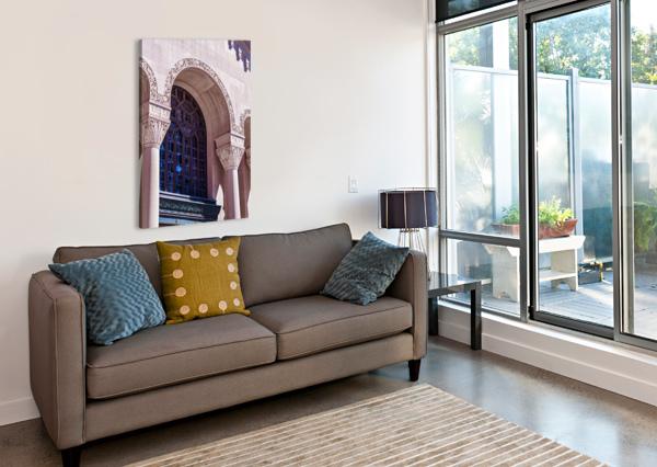 FOSTER MEMORIAL WINDOW MUMBLEFOOT  Canvas Print