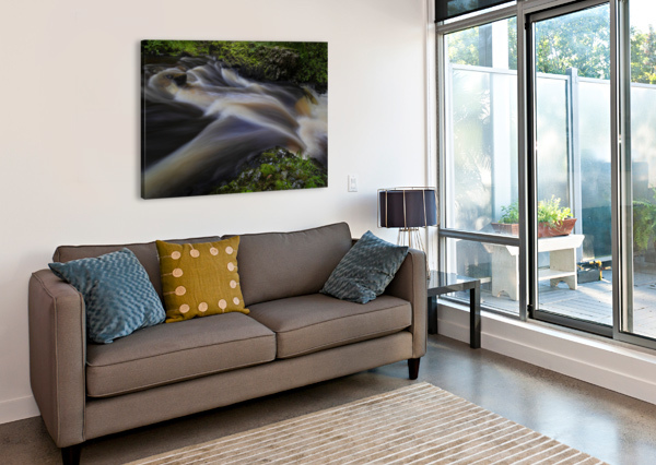WATERFALL COUNTRY AT PONTNEDDFECHAN LEIGHTON COLLINS  Canvas Print