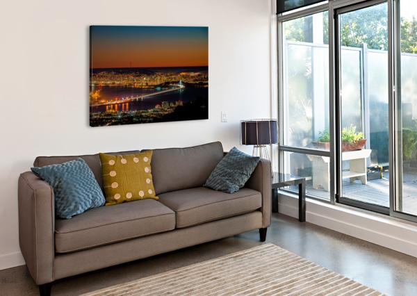 CITY TO CITY - BERKELEY TO SAN FRANCISCO CHRIS STRAFACE  Canvas Print