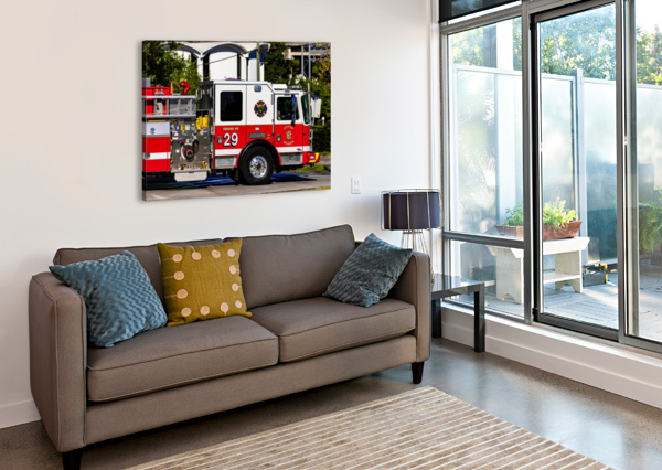 CITY OF ATLANTA FIRE ENGINE NO 29 6665 @THEPHOTOURIST  Canvas Print