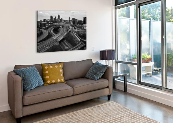 INTERSTATE 75 85 AERIAL VIEW   ATLANTA GA 0225 @THEPHOTOURIST  Canvas Print