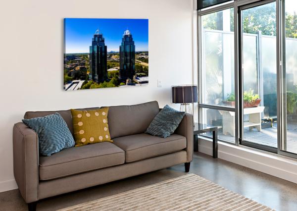 KING AND QUEEN BUILDINGS   ATLANTA GA 0556 @THEPHOTOURIST  Canvas Print