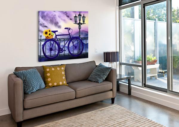 BICYCLE AND SUNFLOWERS IRINA SZTUKOWSKI  Canvas Print