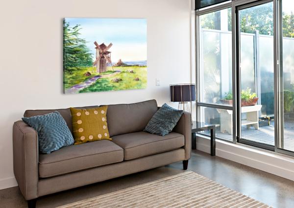 LANDSCAPES OF CALIFORNIA FORT ROSS WINDMILL IRINA SZTUKOWSKI  Canvas Print