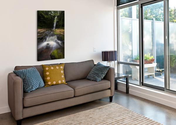 BLAEN Y GLYN WATERFALLS LEIGHTON COLLINS  Canvas Print