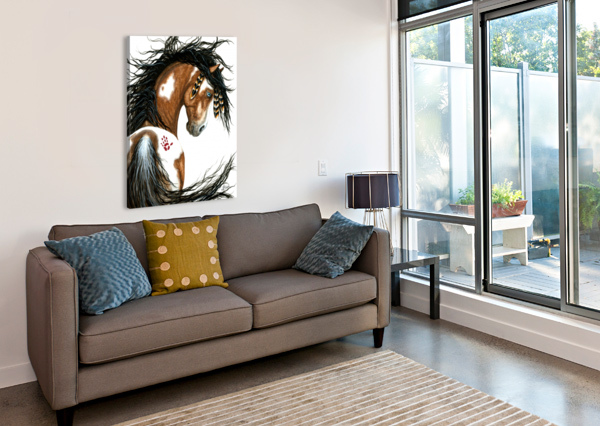MAJESTIC PINTO HORSE AMYLYN BIHRLE  Canvas Print