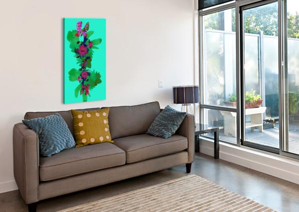 FLORAL COLLAGE SARAH BUTCHER  Canvas Print