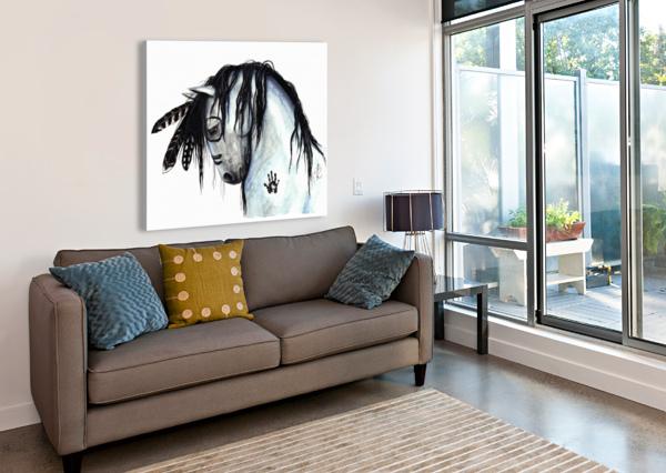 GREY HORSE AMYLYN BIHRLE  Canvas Print