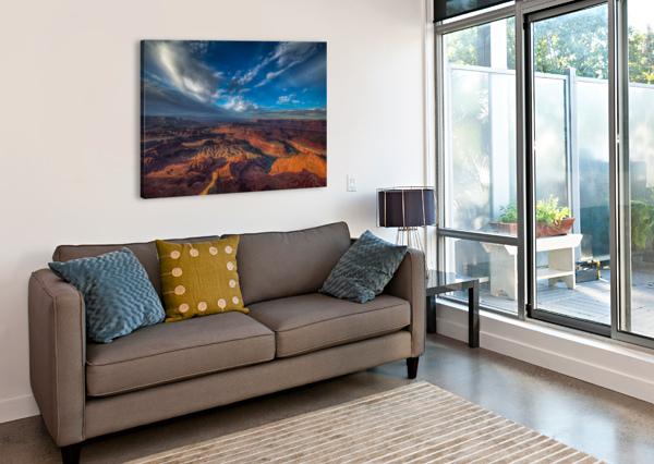 SUNRISE OVER DEAD HORSE CANYON-UTAH-6 BILL SHERRELL  Canvas Print