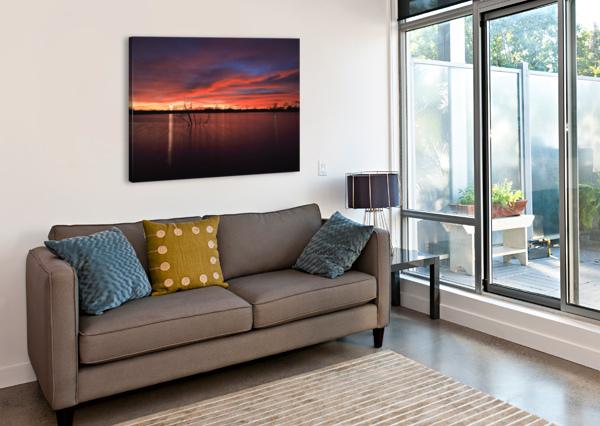 WELLINGTON CITY LAKE SUNSET BERN E KING PHOTOGRAPHY  Canvas Print