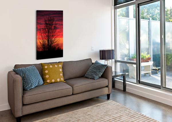 LIBERTY MISSOURI SUNSET  BERN E KING PHOTOGRAPHY  Canvas Print