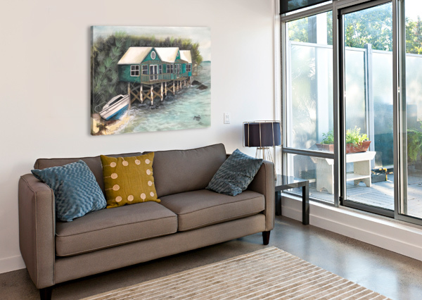 COLLECTION BERMUDA- STILT HOUSE HUBLOT DESIGN  Impression sur toile