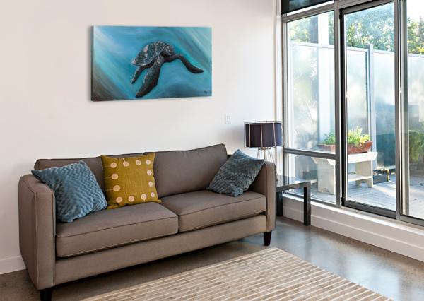 COLLECTION WAVES-TURTLE HUBLOT DESIGN  Impression sur toile