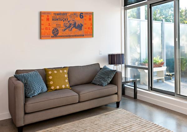 VINTAGE KENTUCKY WILDCATS FOOTBALL TICKET ART ROW ONE BRAND  Canvas Print