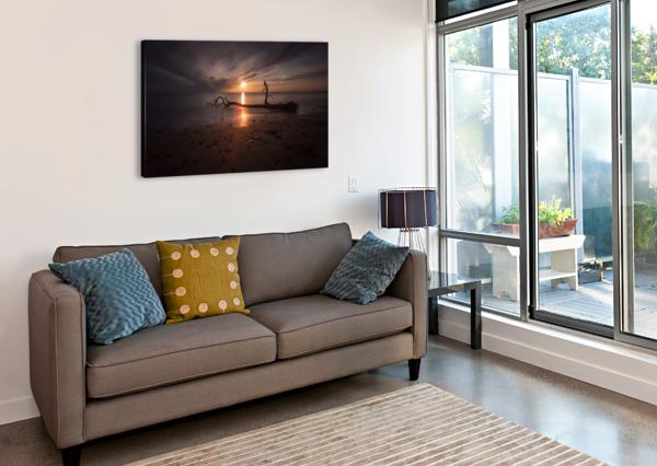SUNSET ON SKER BEACH LEIGHTON COLLINS  Canvas Print