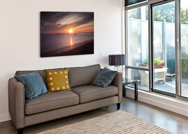 SKER BEACH SUNSET LEIGHTON COLLINS  Canvas Print