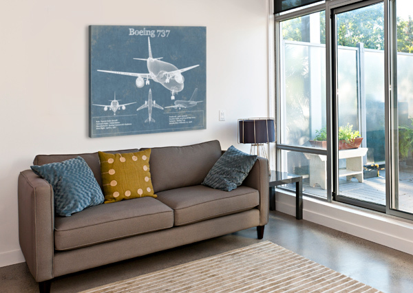 737 ACQUIRED AVIATION  Canvas Print