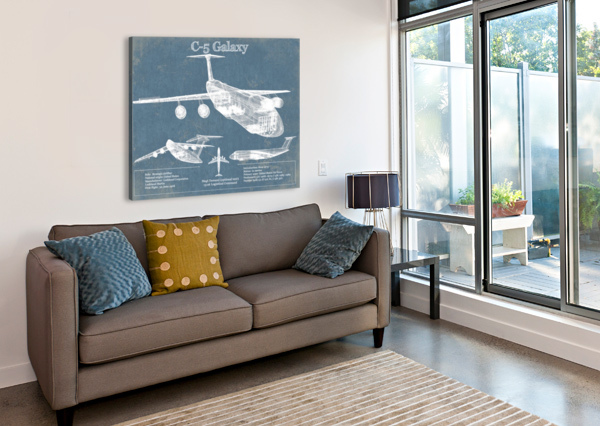 C 5 ACQUIRED AVIATION  Canvas Print