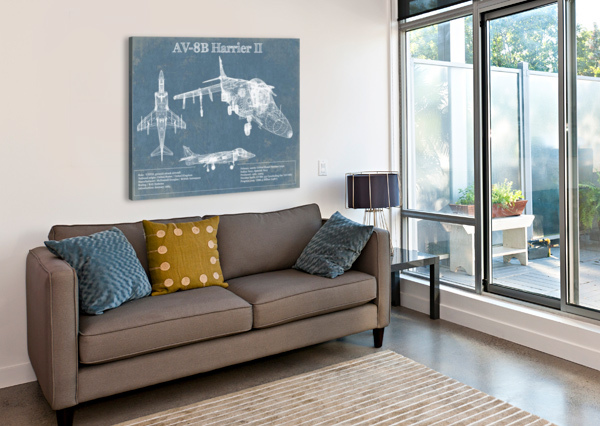 HARRIERII ACQUIRED AVIATION  Canvas Print