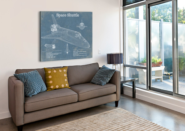 SPACESHUTTLE ACQUIRED AVIATION  Canvas Print