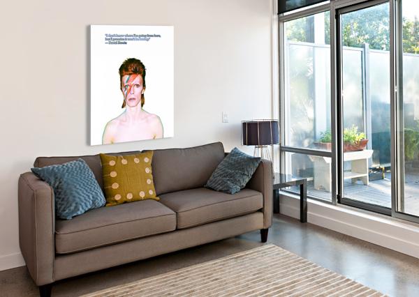 DAVID BOWIE ZIGGY STARDUST BOB FRASE  Canvas Print