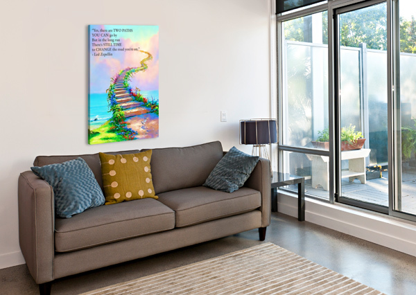 STAIRWAY TO HEAVEN BOB FRASE  Canvas Print