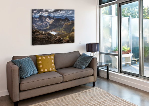 SURROUNDED BY MOUNTAINS MAREK PIWNICKI  Canvas Print