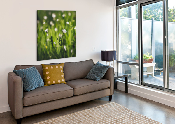 WHITE ON GREEN MAREK PIWNICKI  Canvas Print
