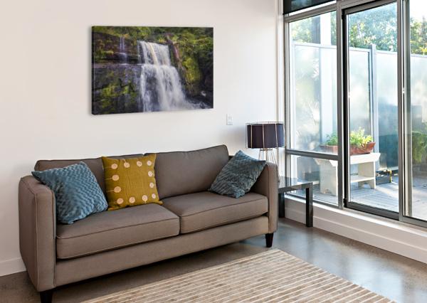 THE WATERFALL SGWD CLUN GWYN  LEIGHTON COLLINS  Canvas Print