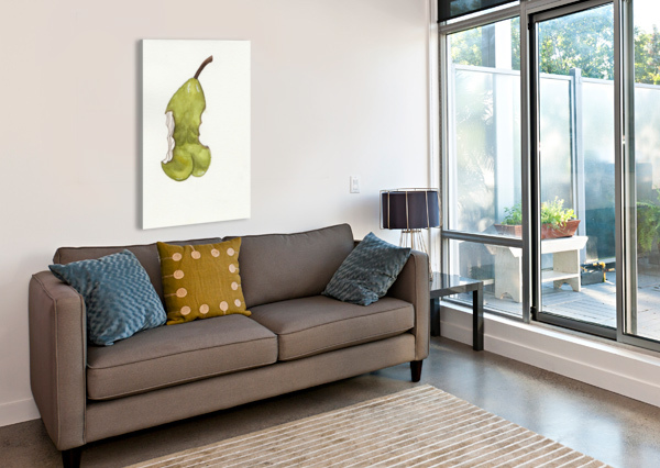 UP PEAR-ASS BY DBIANCA  Canvas Print