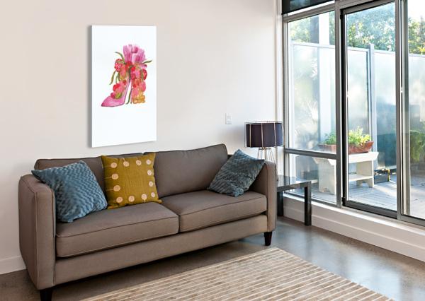 FLOWER HEEL BY DBIANCA  Canvas Print