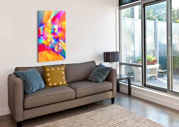4TH DIMENSION -ABSTRACT ART XVII ART DESIGN WORKS  Canvas Print