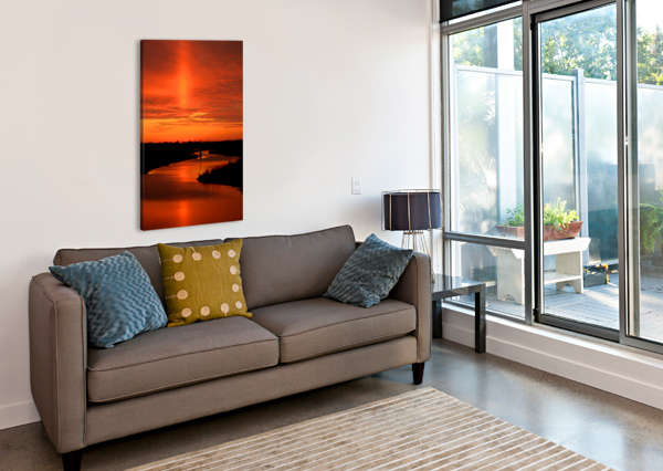 BIG DITCH SUNSET BERN E KING PHOTOGRAPHY  Canvas Print