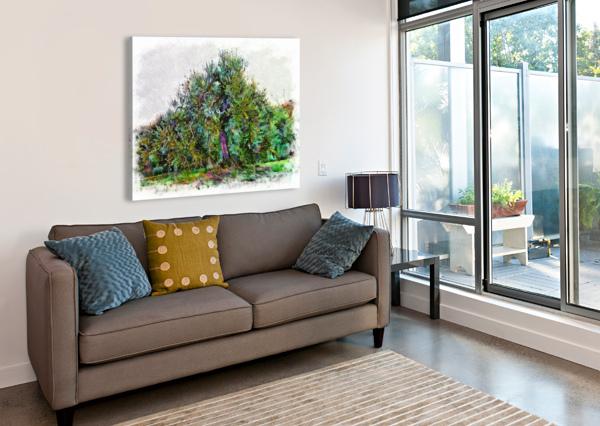 CASCADING OLIVE TREE DOROTHY BERRY-LOUND  Canvas Print