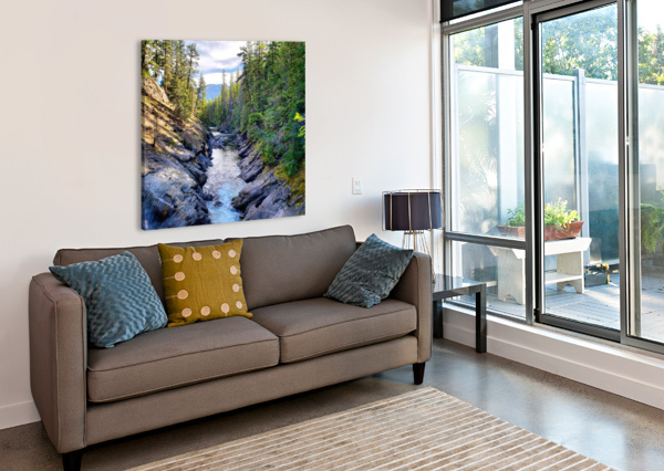 ICICLE GORGE TRAIL CHANG DYNASTY 87  Canvas Print