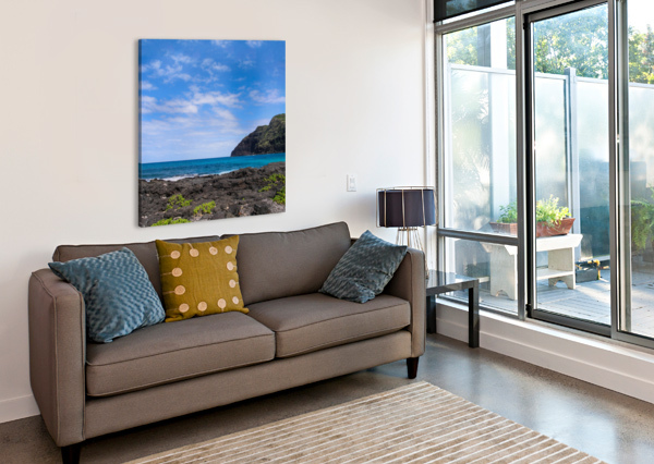 HAWAII CLIFF AND COASTLINE SQUARE PANORAMA BOBBY TWILLEY JR  Canvas Print