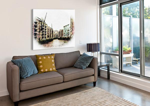 ST SAVIOURS DOCK BERMONDSEY DOROTHY BERRY-LOUND  Canvas Print