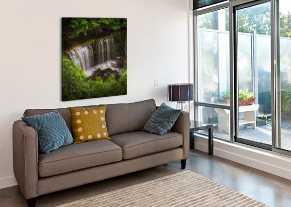 THE SGWD ISAF CLUN-GWYN WATERFALL LEIGHTON COLLINS  Canvas Print