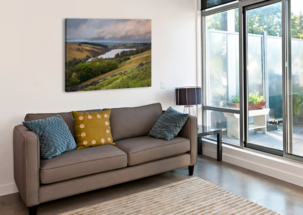 THE CRAY RESERVOIR IN THE BRECON BEACONS NATIONAL PARK LEIGHTON COLLINS  Canvas Print