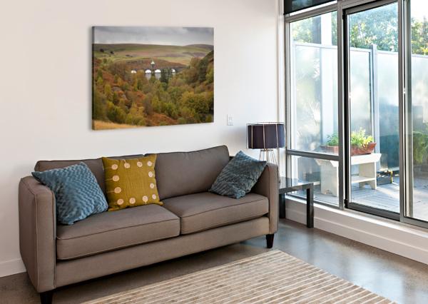ELAN VALLEY TOP DAM LEIGHTON COLLINS  Canvas Print