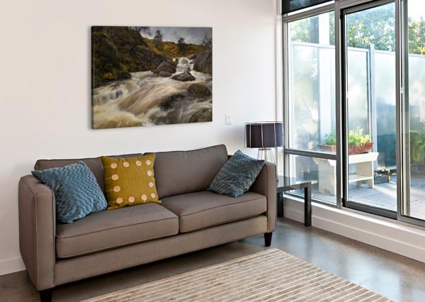 ELAN VALLEY WATERCOURSE LEIGHTON COLLINS  Canvas Print