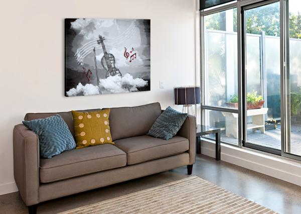 HEAVENLY MUSIC DAGMAR MARINA  Canvas Print