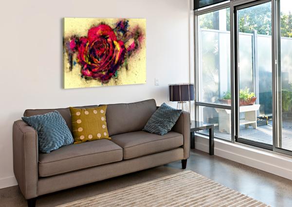 ABSTRACT ROSE DAGMAR MARINA  Canvas Print