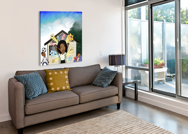 KIDS ROOM AFROCENTRIC PAINTER  Canvas Print